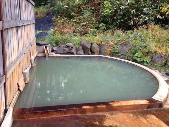 鯉川温泉、露天風呂